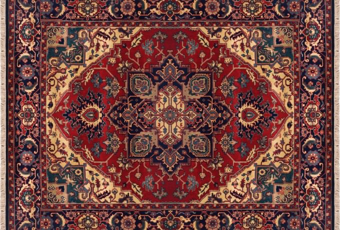 hand oriental wallhanging medallion red silk rugs products kashan quality design wall art area carpet rug museum knotted on