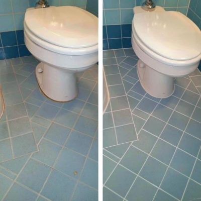 Bathroom Tile Before & After