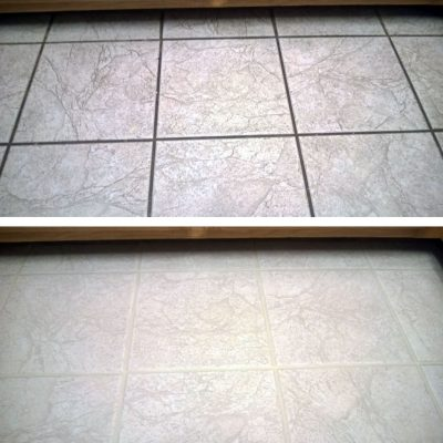 Kitchen Tile Before & After