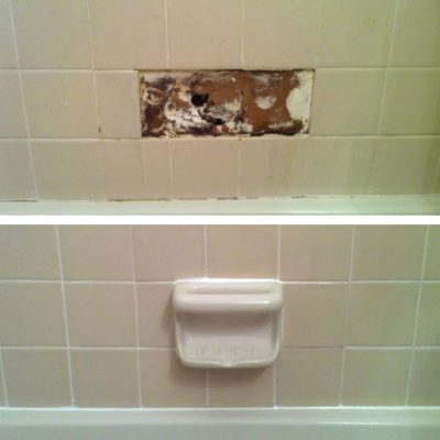 Shower Tile Before & After