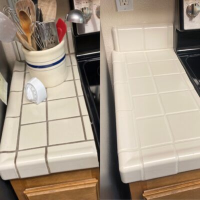 Counter top grout refresh